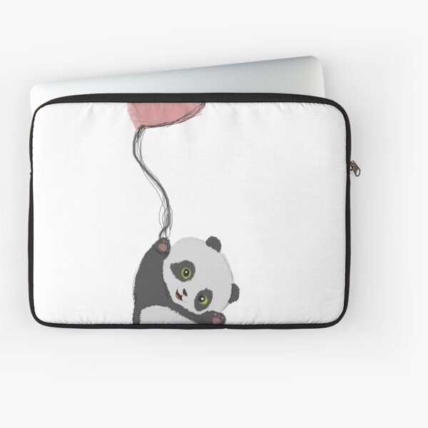 Panda And Balloon Laptop Sleeve