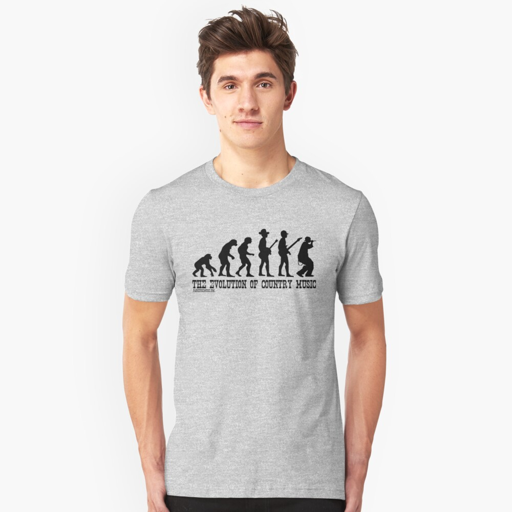 The Evolution of Country Music Unisex T-Shirt Front