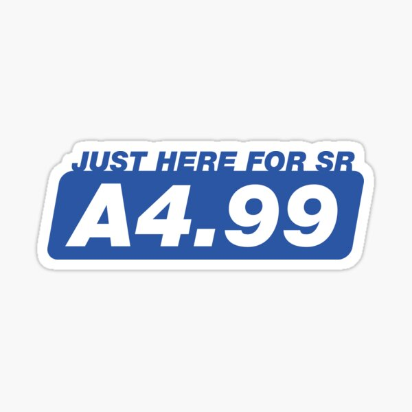 iracing: Just here for SR A4.99 Sticker