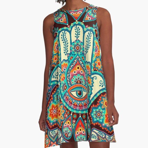 Hamsa Hand A-Line Dress