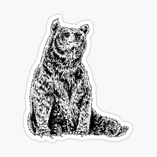 Bear Tattoo Stickers Redbubble