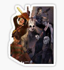 Terror Team - Ash Williams, PinHead, Leatherface, Freddy Krueger, Jason Voorhees, Ella, Micheal Myers Sticker