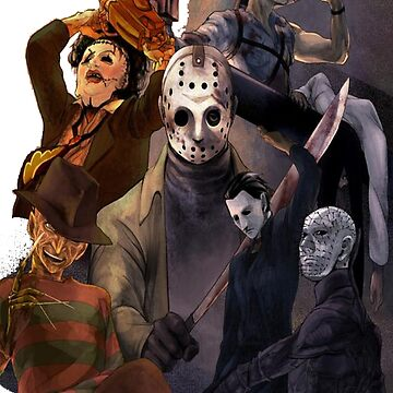 Terror Team - Ash Williams, PinHead, Leatherface, Freddy Krueger, Jason Voorhees, Ella, Micheal Myers by ramox90