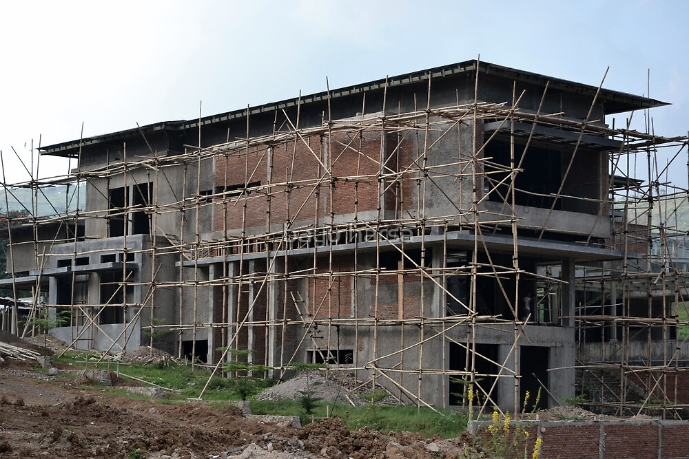 unfinished luxury house by bayu harsa
