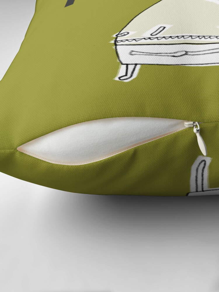 Alternate view of Hi, My Name Is.... Terry Throw Pillow