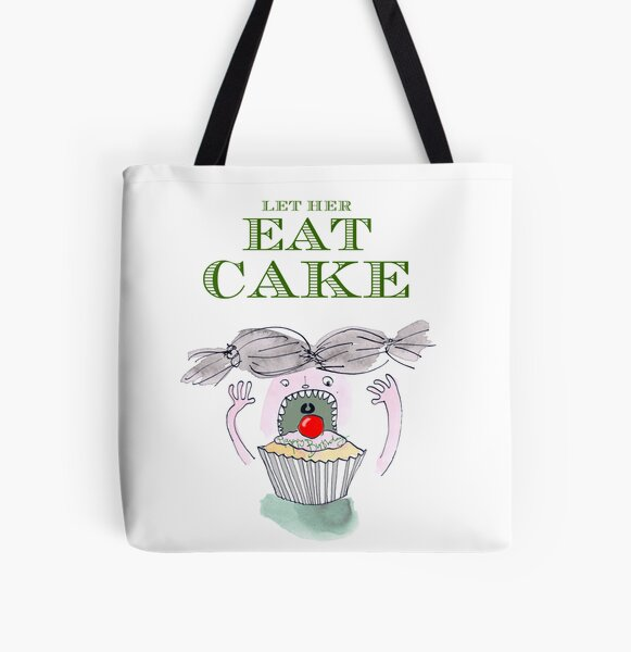 Let Her Eat Cake Birthday Card All Over Print Tote Bag