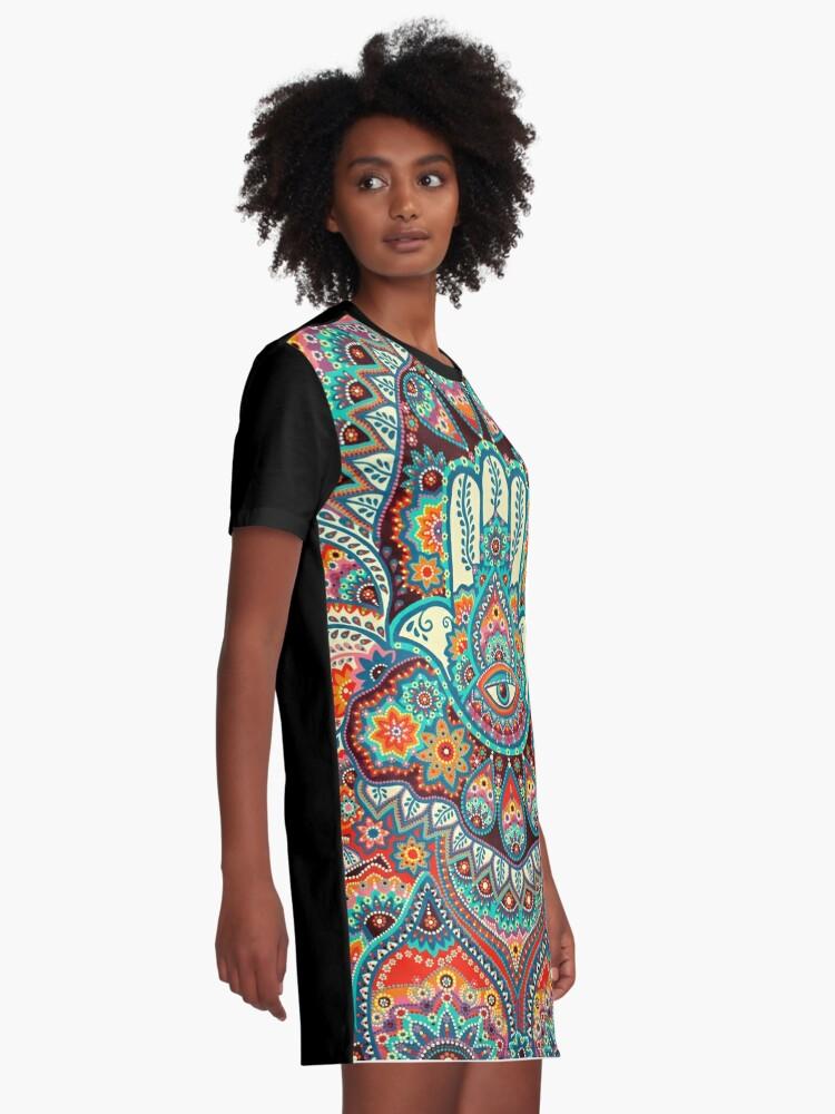 Alternate view of Hamsa Hand Graphic T-Shirt Dress