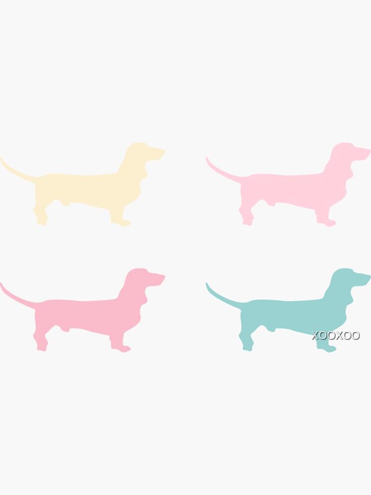 Pastel Dachshunds Pattern by XOOXOO