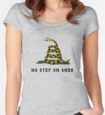 No Step On Snek Snake T-Shirt Women's Fitted Scoop T-Shirt