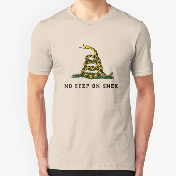No Step On Snek Snake T-Shirt Slim Fit T-Shirt