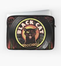 Black Cat LP Art Deco Laptop Sleeve