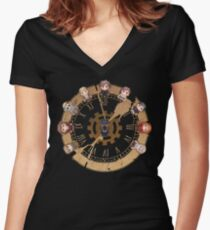 Retro Time Dilemma (US Ver.) Women's Fitted V-Neck T-Shirt
