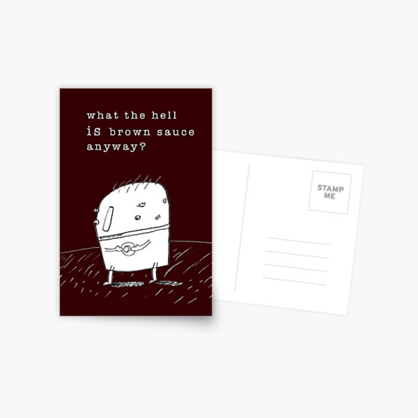 Brown Sauce Postcard