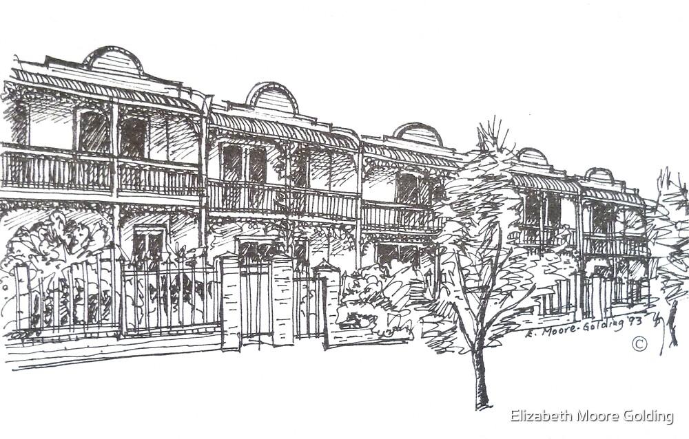 Bendall St Kensington Melbourne.  by Elizabeth Moore Golding