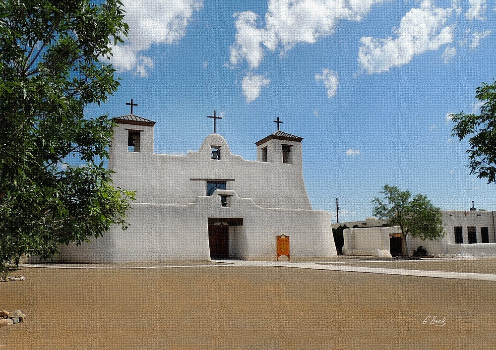 Isleta Mission, New Mexico by Gordon Beck