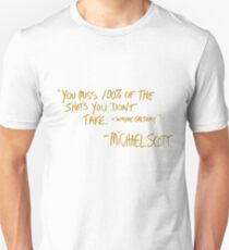 The Office Wayne Gretzky Quote Gold Unisex T-Shirt