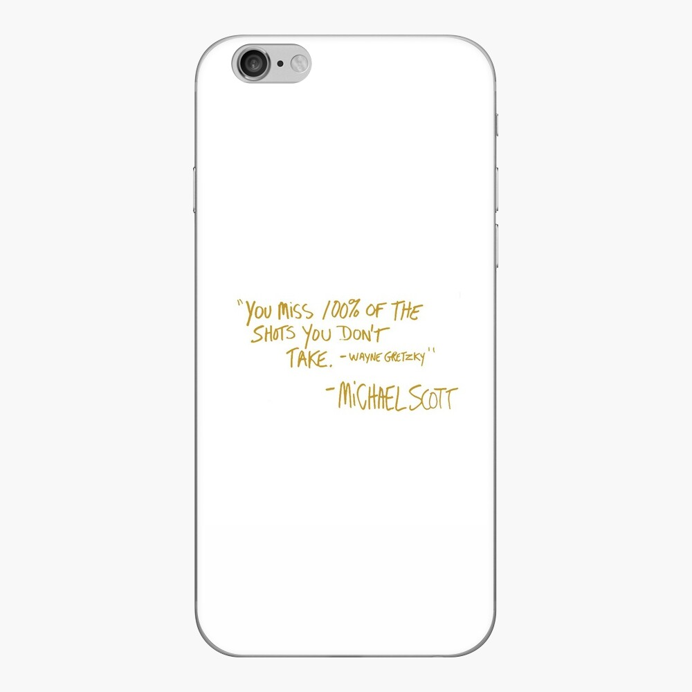 The Office Wayne Gretzky Quote Gold iPhone Skin