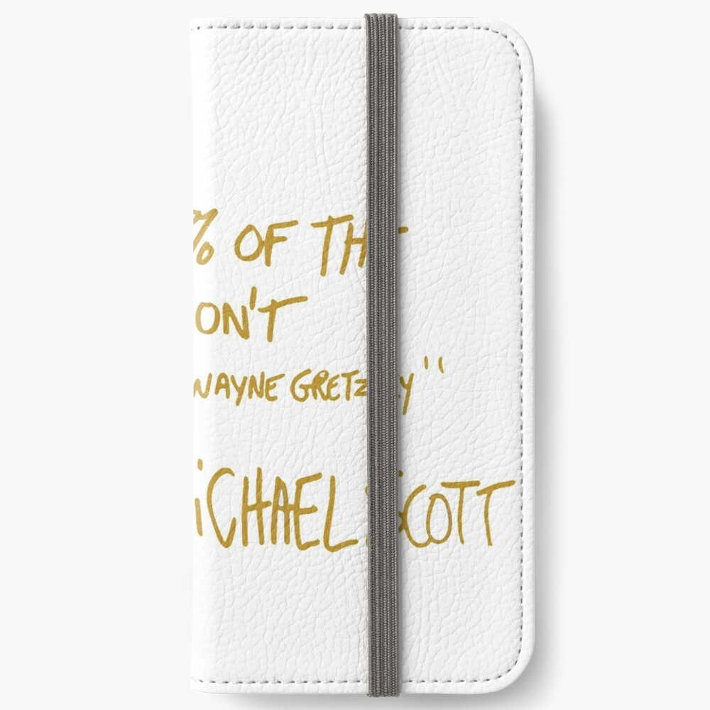 The Office Wayne Gretzky Quote Gold iPhone Wallet