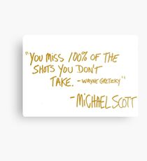 The Office Wayne Gretzky Quote Gold Metal Print