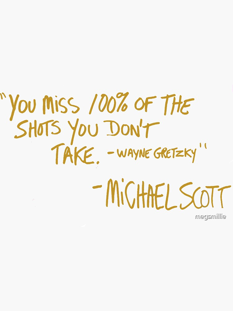 The Office Wayne Gretzky Quote Gold by megsmillie