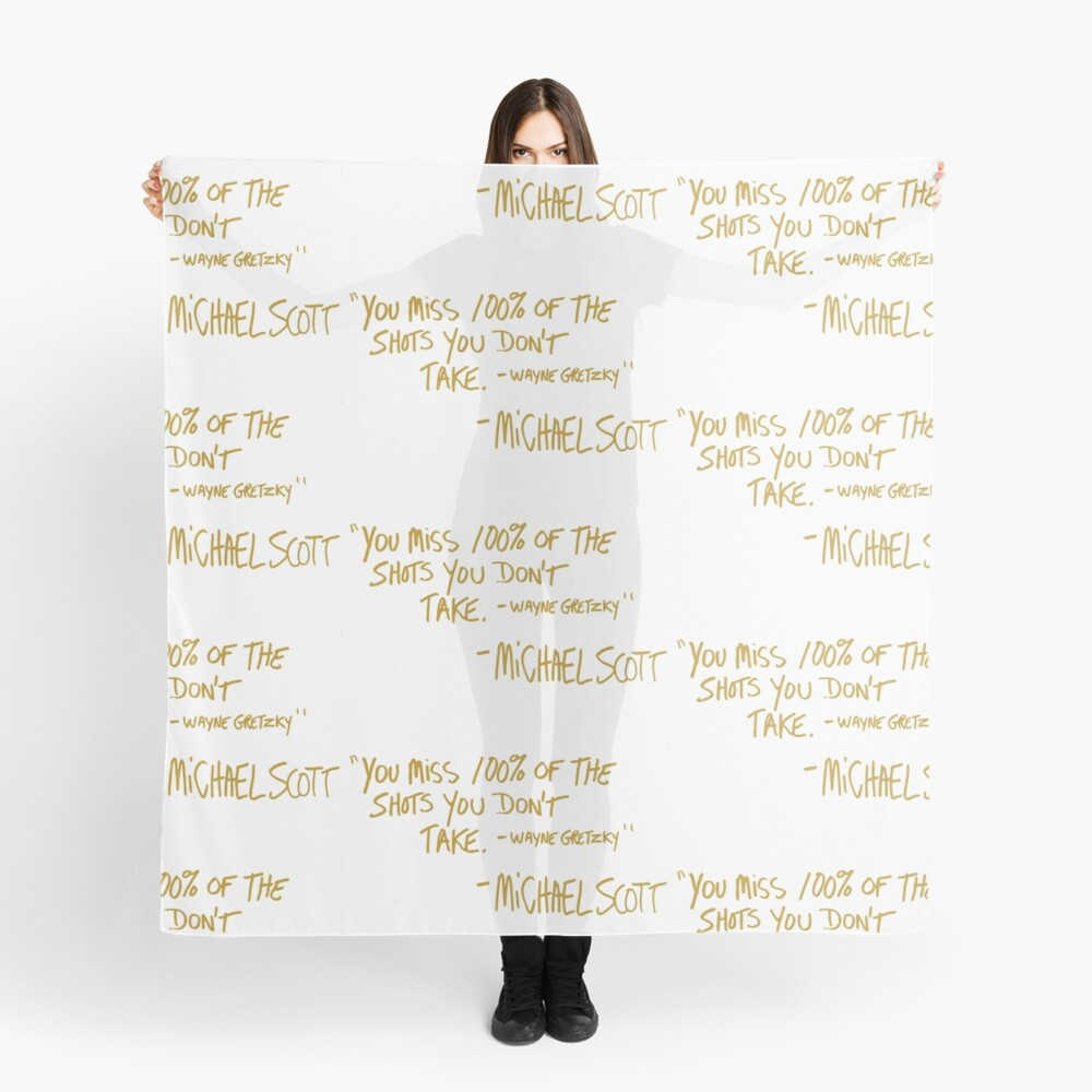 The Office Wayne Gretzky Quote Gold Scarf