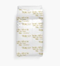 The Office Wayne Gretzky Quote Gold Duvet Cover