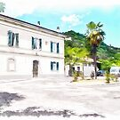 Fognano: railway station and trees by Giuseppe Cocco