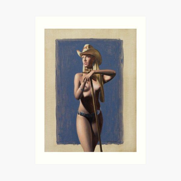 White Woman Art Print