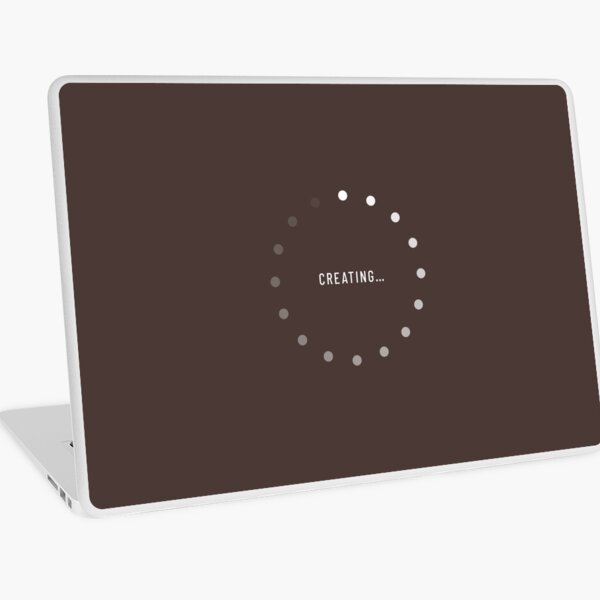 Creating–Loading Icon (Chocolate Edition) Laptop Skin