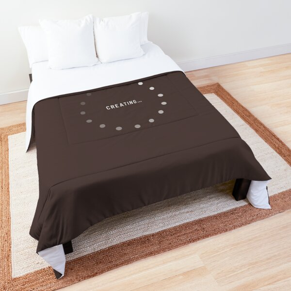 Creating–Loading Icon (Chocolate Edition) Comforter