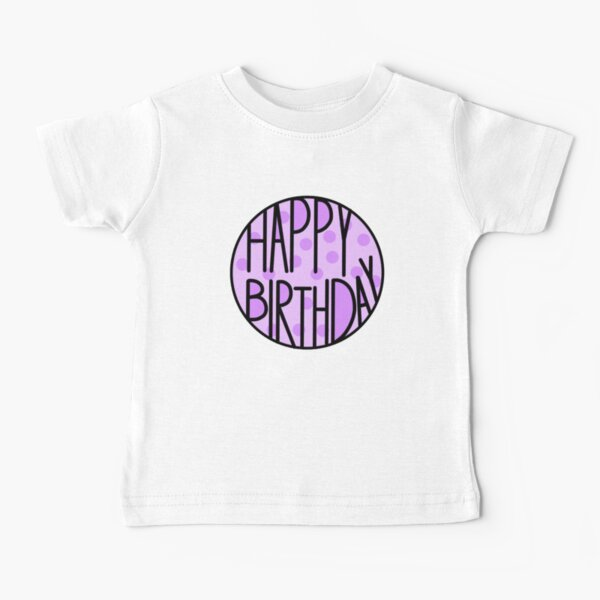 Happy Birthday To An Amazing Person, Pastel Purple Baby T-Shirt