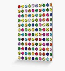 Multi-coloured Pills Pattern Greeting Card