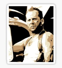 Bruce Willis Vector Illustration Sticker