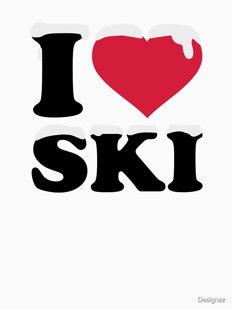 I love ski skiing by Designzz
