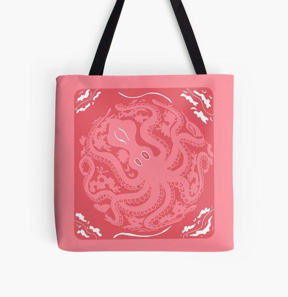 Pink Mycenaean Octopus Vase All Over Print Tote Bag