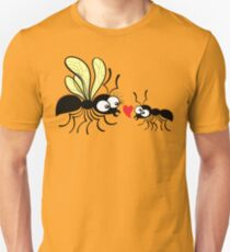 Shy worker ant declaring its love to the queen ant Unisex T-Shirt