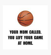 Basketball Game At Home Photographic Print