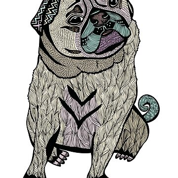 Ares The Hipster Pug by pamegallegos