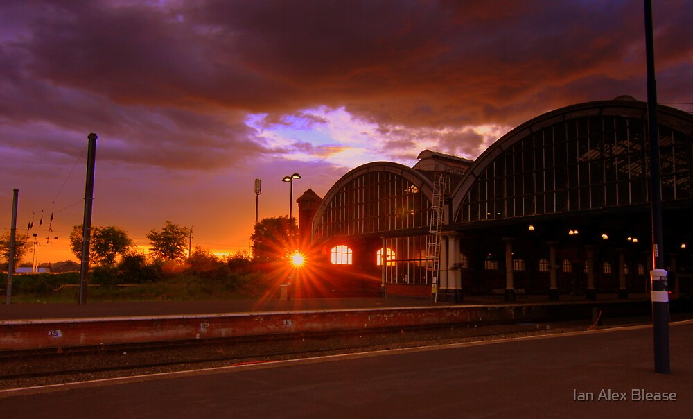 Sunset, Darlington Bank Top Railway Station, 11th June 2014 by Ian Alex Blease
