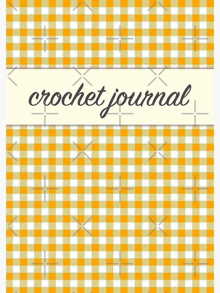 My Crochet Journal Orange Gingham  by ErikaAAsberg