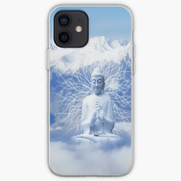 Buddah in the snow iPhone Soft Case