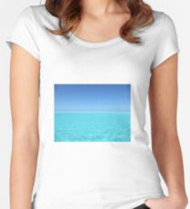 calm waters Women's Fitted Scoop T-Shirt