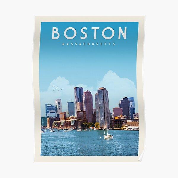 Boston Travel Poster Vintage • Boston Massachusetts Retro Travel Poster • Boston Artwork Poster