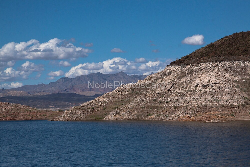 Mountain by Blue Lake by NoblePhotosCard