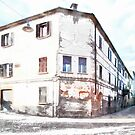 Fognano: building and street by Giuseppe Cocco