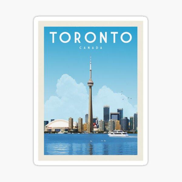 Toronto Travel Poster Vintage • Toronto Canada Retro Travel Poster • Toronto Artwork Sticker