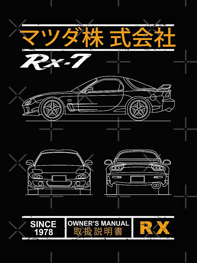 Blueprint of the RX7 by rogue-design