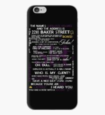 Sherlock Holmes Quotes Print iPhone Case