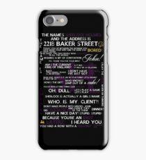 Sherlock Holmes Quotes Print iPhone Case/Skin