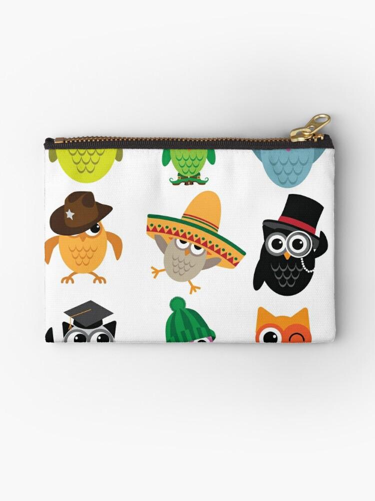 Bolsos de mano «Búhos de dibujos animados lindo con sombreros» de ...